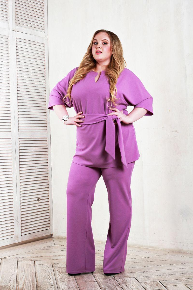 1bcaf95404e Туника с цельнокроеным рукавом фиолетового цвета